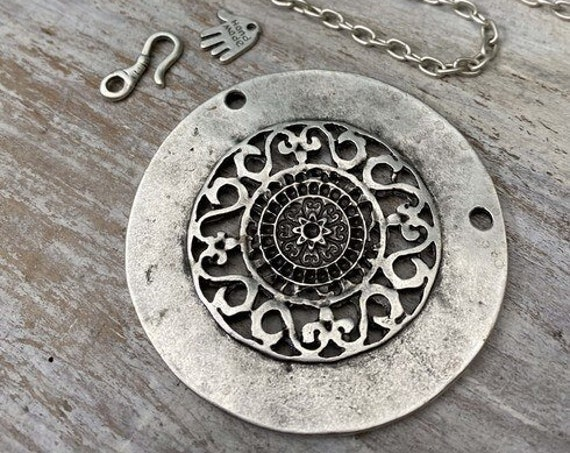 7006 - Concentric Circle Pendant - Necklace for women - Necklace making kit - Gift for
