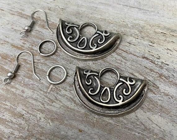 Moon Earrings - Earring findings.Best gift for her. 8029