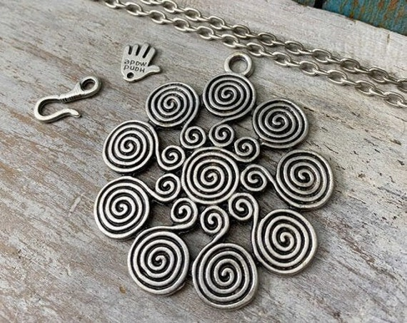 8080 - Blossom Pendant - Necklace for women - Necklace making kit - Gift for