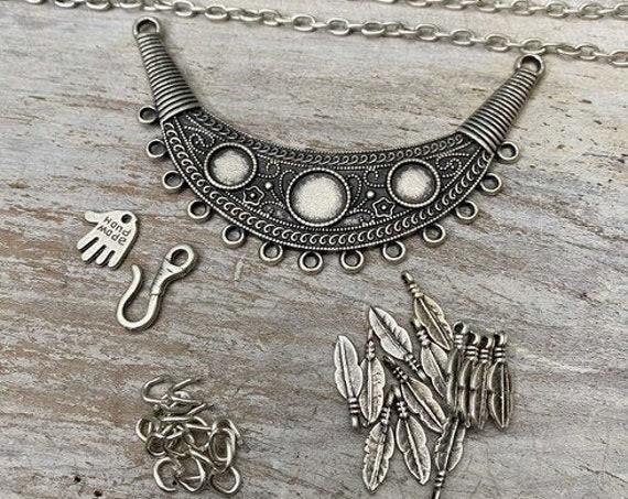 7016 - Medusa Pendant - Necklace for women - Necklace making kit - Gift for