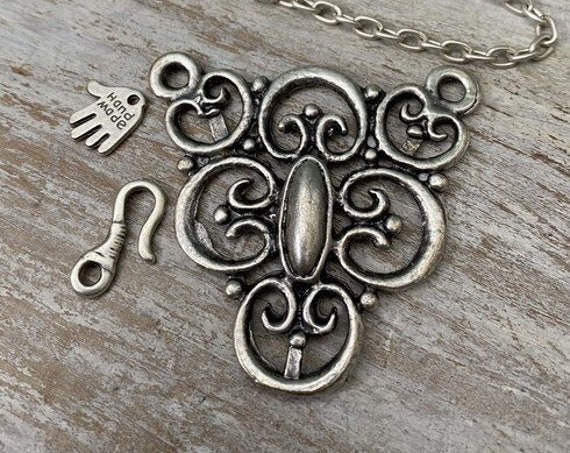 7011 - Victorian Lace Pendant - Necklace for women - Necklace making kit - Gift for