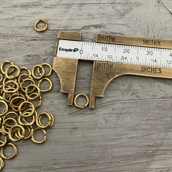 12 GR Raw Brass Jump Rings - 7 mm - 3058