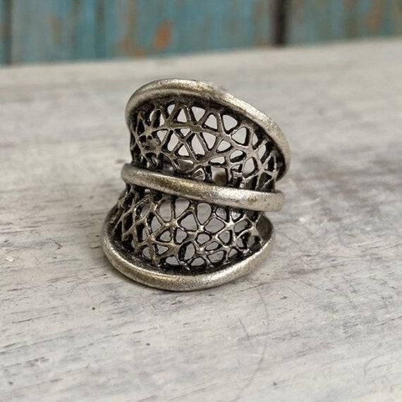 4427 -boho Ring, Bohemian Ring , Ethnic, Tribal, Hippie Style