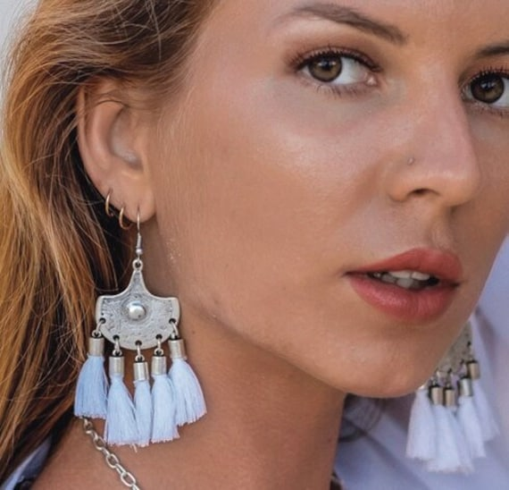 5618 - Tassel Earrings, Stud Earrings, Dangle Earrings