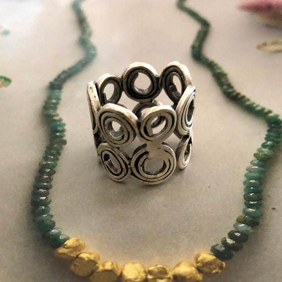 4453 - Bohemian,boho Ring, Ethnic Tribal,  Gypsy Hippie Rings