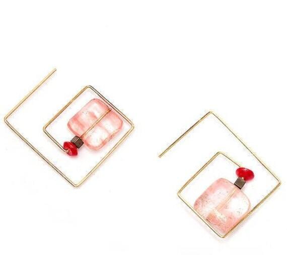 5561 - Bohemian jewelry boho earrings ethnic earrings dangle earrings statement earrings gypsy earrings tribal jewelry tribal earrings
