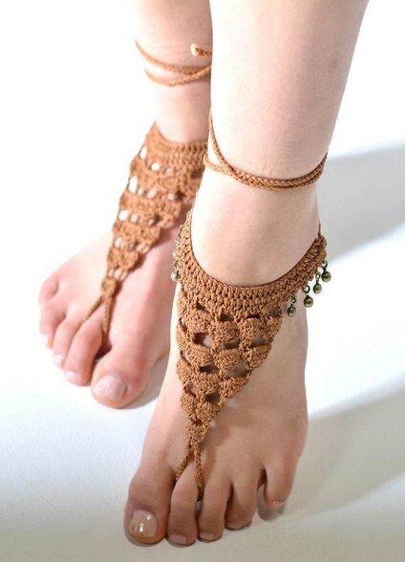 6020 - Lattitude Hand Crocheted Barefoot Sandals