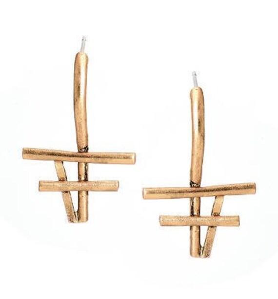 5551 - Geometric Earrings, Dangle Earrings,Best Friends Gift