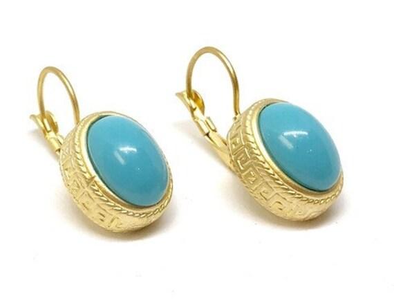 5302 -  Bohemian Ethnic Earrings. Gypsy Brass Earrings