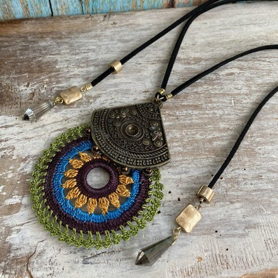 1120 - Bohemian necklace boho necklace coin necklace silver necklace ethnic jewelry tribal jewelry, body jewelry, choker necklace