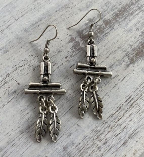 5459 - Bohemian jewelry boho earrings ethnic earrings dangle earrings statement earrings gypsy earrings tribal jewelry tribal earrings