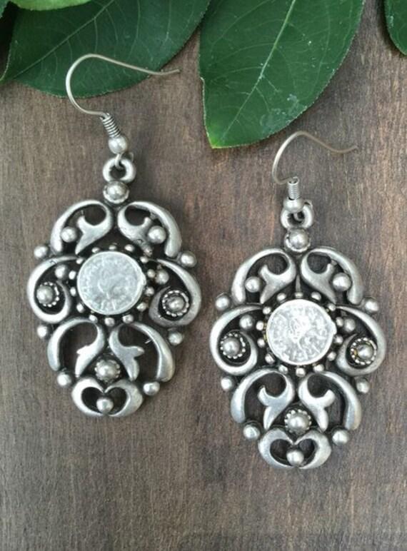 5354 - Bohemian Earrings,Bohemian Jewelry, Art Deco,