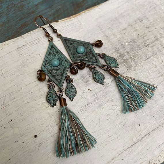 5413 - Tassel Earrings, Stud Earrings, Dangle Earrings