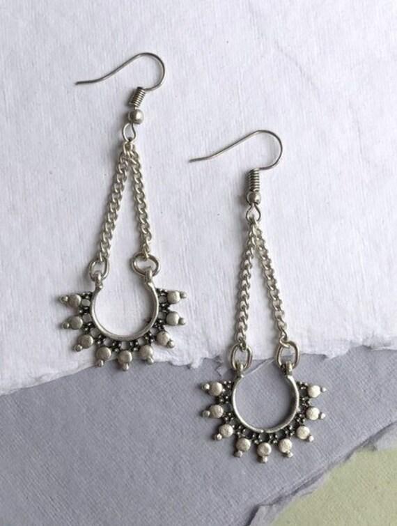 5441 - Minimalist Earrings,Bohemian Jewelry,Bohemian Earrings