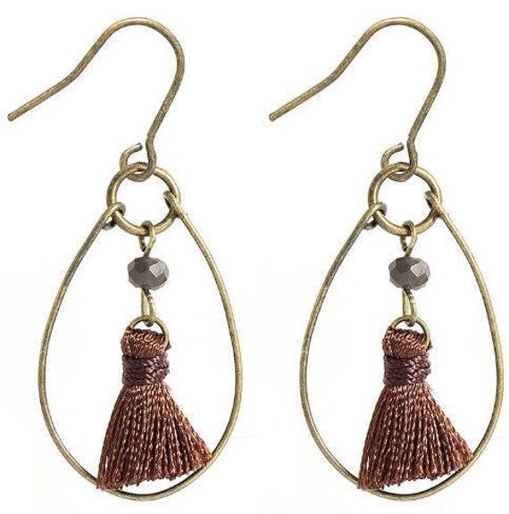 5583 - Bohemian jewelry boho earrings ethnic earrings dangle earrings statement earrings gypsy earrings tribal jewelry tribal earrings