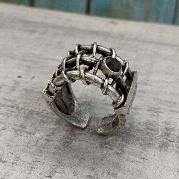 4424 - Boho Ring, Bohemian Ring , Ethnic, Tribal, Hippie Style