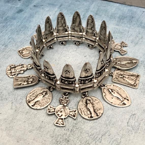 2067 - Antique Silver Plated  Bohemian Bracelet Findings. Bohemian Bracelets for women