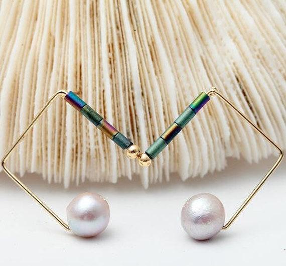5582 - Bohemian jewelry boho earrings ethnic earrings dangle earrings statement earrings gypsy earrings tribal jewelry tribal earrings
