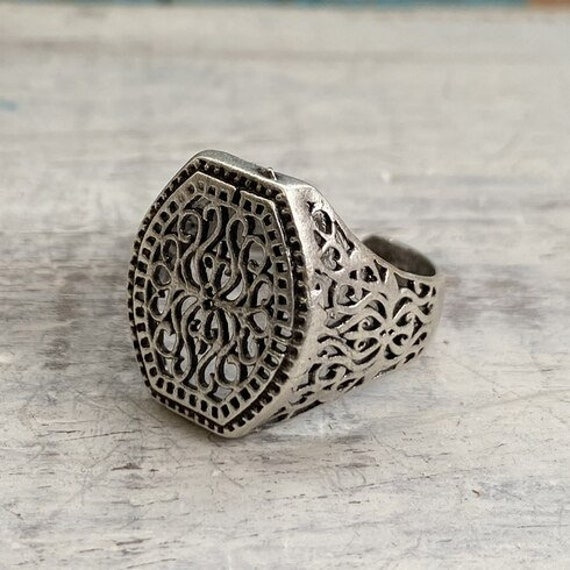 4467 - Boho Ring, Bohemian Ring , Ethnic, Tribal, Hippie Style