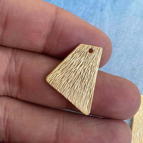 1156 - 6 Pcs. Matte Gold Plated Earring Parts - Bohemian Brass Earring Findings. 6 PCS.