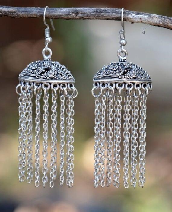5438 - Tassel Earrings, Stud Earrings, Dangle Earrings