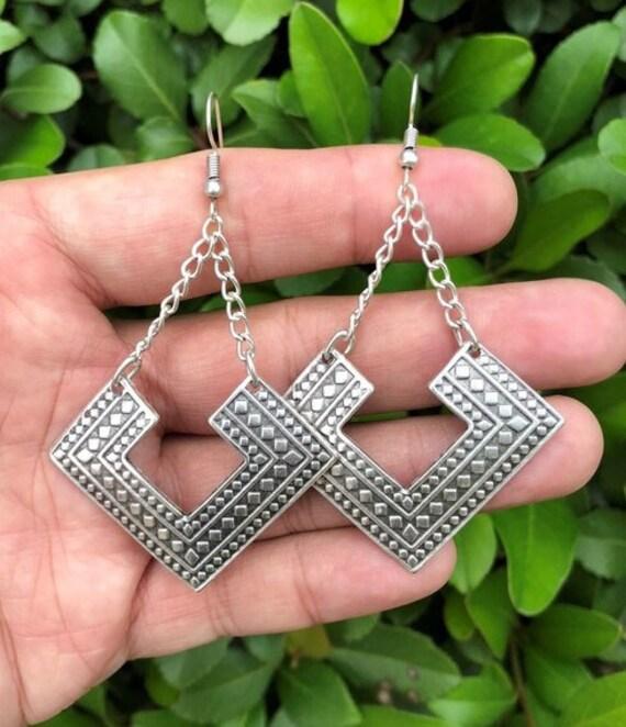 5530 - Geometric Earrings, Dangle Earrings,Best Friends Gift