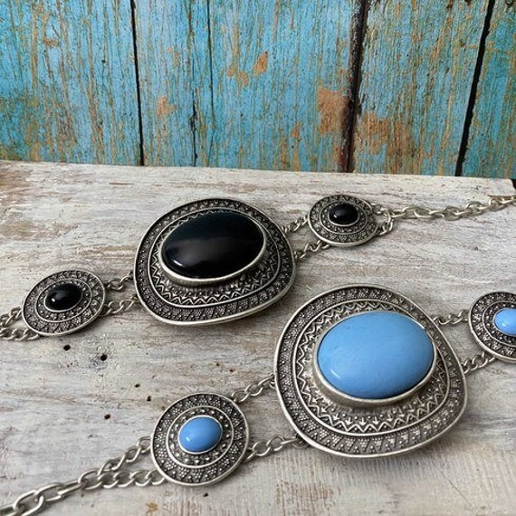2001 - Antique Silver Plated  Bohemian Bracelet Findings. Bohemian Bracelets for women