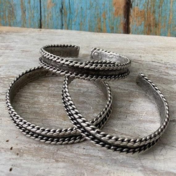Antique Silver Plated  Bohemian Bracelet Findings. Bohemian Bracelets for women - 2052
