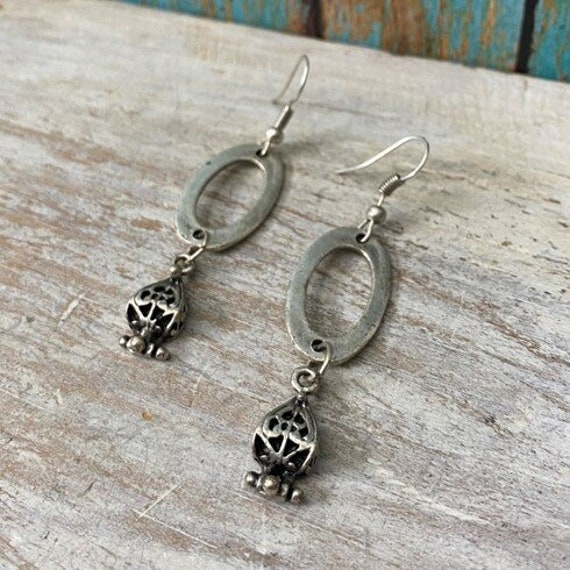 5373 - Bohemian jewelry boho earrings ethnic earrings dangle earrings statement earrings gypsy earrings tribal jewelry tribal earrings