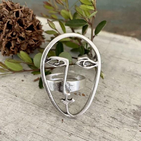 4484- Face Ring , Boho Ring, Bohemian Ring , Ethnic, Tribal, Hippie Syle,bohemian Ring , Ethnic, Tribal, Hippie Style