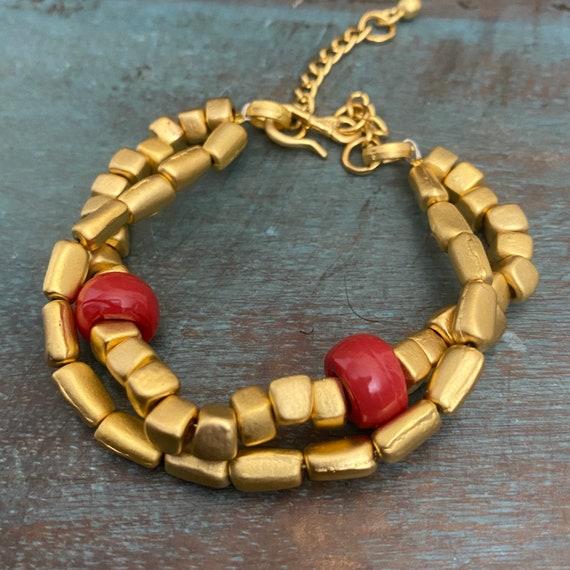 2046 - Antique Gold Plated  Bohemian Bracelet Findings