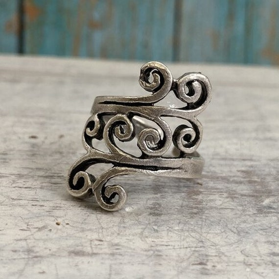4469 - Boho Ring, Bohemian Ring , Ethnic, Tribal, Hippie Style