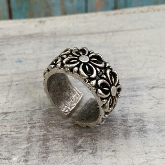 4383 -Bohemian rings, adjustable ring, brass ring