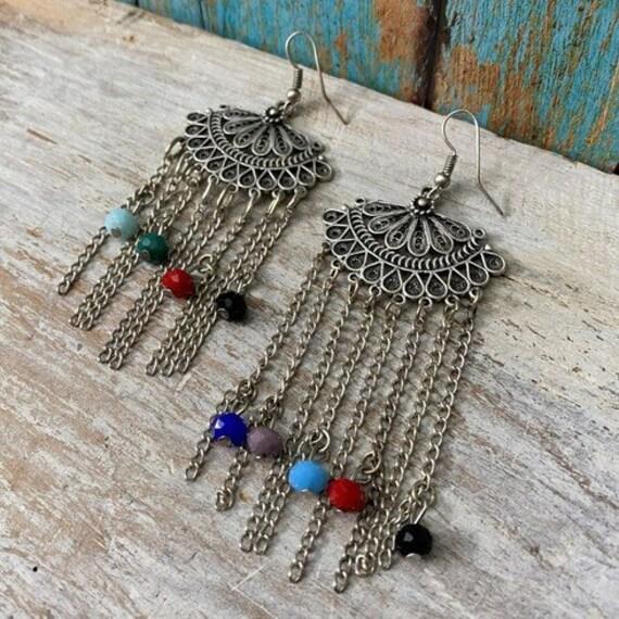 5372 - Dangle Earrings, Statement Earrings, Tassel earrings