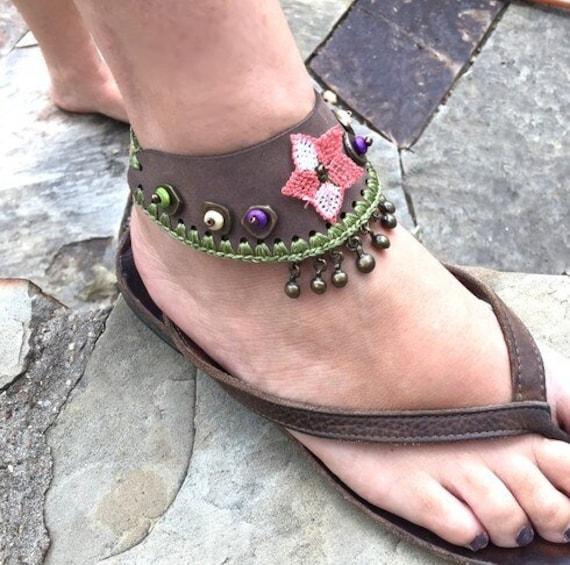 6044 - Hand Crocheted Barefoot Sandals