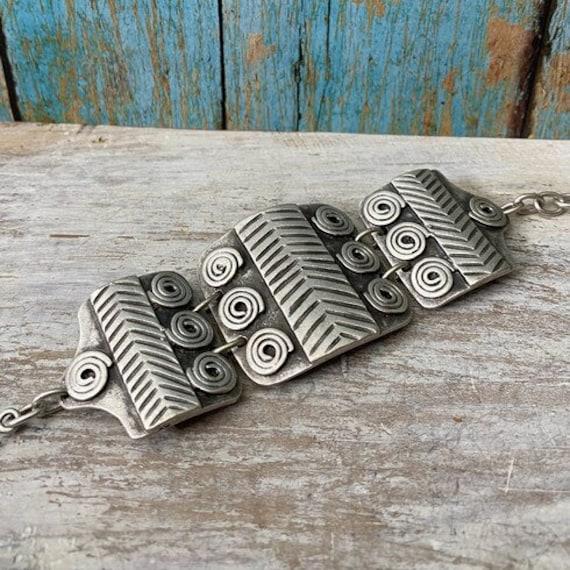 2006 - Antique Silver Plated  Bohemian Bracelet Findings