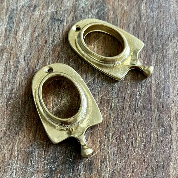 1017 - Matte Gold Plated Earring Parts - Bohemian Brass Earring Findings. 2PCS.