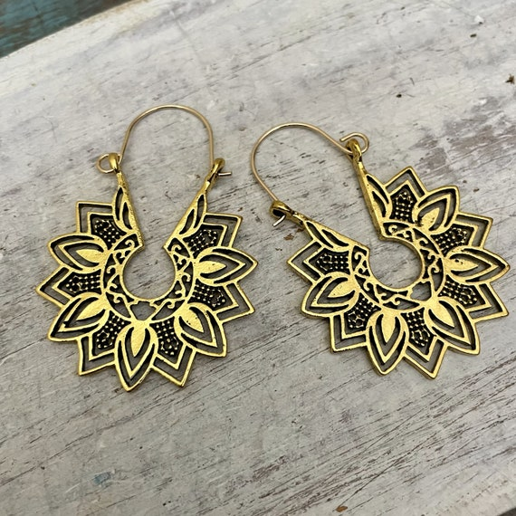 5548 - Bohemian jewelry boho earrings ethnic earrings dangle earrings statement earrings gypsy earrings tribal jewelry tribal earrings
