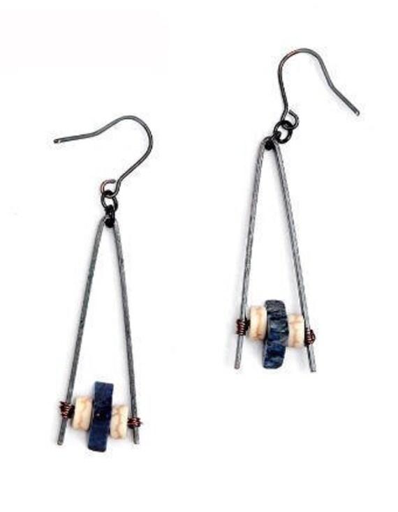 5540 - Bohemian jewelry boho earrings ethnic earrings dangle earrings statement earrings gypsy earrings tribal jewelry tribal earrings