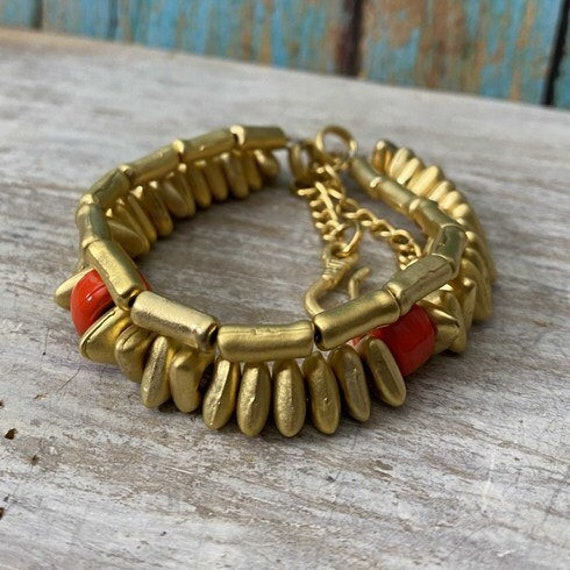 2012 - Antique Gold Plated  Bohemian Bracelet Findings