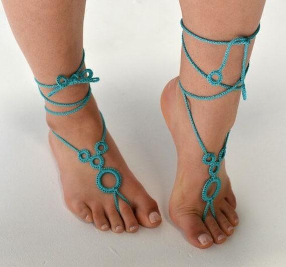 6039 - Belize Hand Crocheted Barefoot Sandals