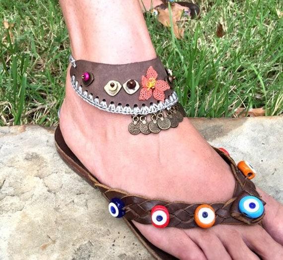 6045 -hand Crocheted Barefoot Sandals