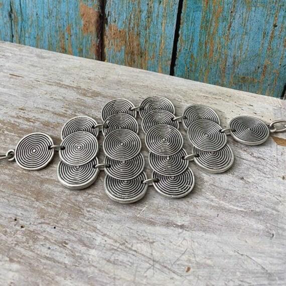 2003 - Antique Silver Plated  Bohemian Bracelet Findings,bracelets for women. Bohemian Bracelets for women