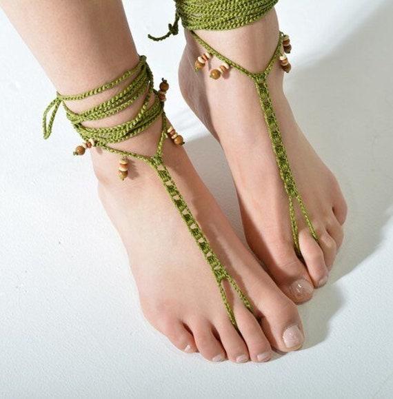 6041 - Ostia Hand Crocheted Barefoot Sandals