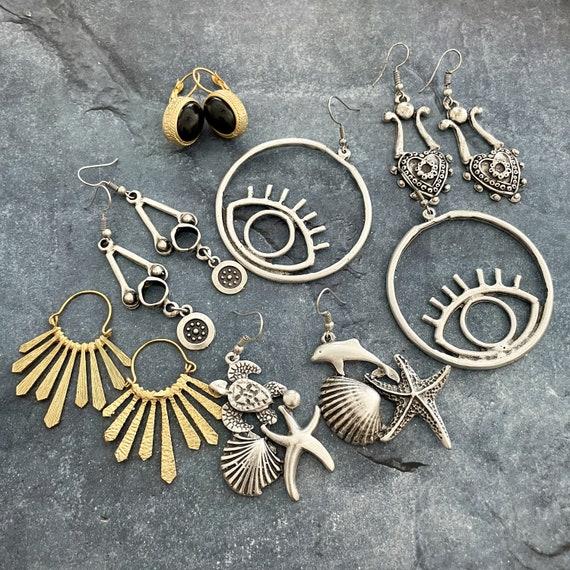 5400 - Mix Set - 6 Pair Bohemian, Boho Style, Gypsy, Hippie, Ethnic Earrings - Bohemian Earrings -Boho Earrings