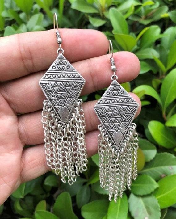 5598 - Tassel Earrings, Stud Earrings, Dangle Earrings