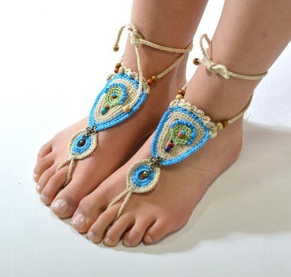 6007 - Meadow Hand Crocheted Barefoot Sandals