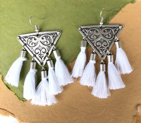 5592 - Tassel Earrings, Stud Earrings, Dangle Earrings