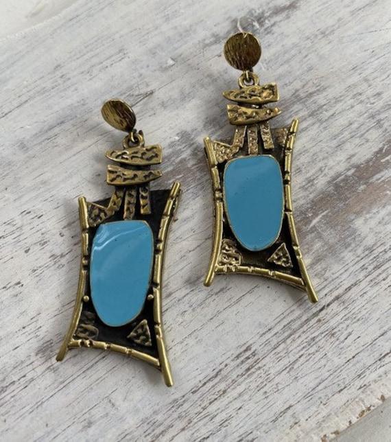 5619 - Bohemian jewelry boho earrings ethnic earrings dangle earrings statement earrings gypsy earrings tribal jewelry tribal earrings