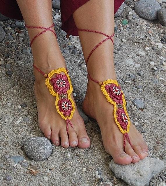 6023 - Summit Hand Crocheted Barefoot Sandals